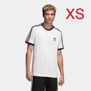 アディダス(adidas)のXS 白 アディダス 3ストライプ Tシャツ CW1203(Tシャツ/カットソー(半袖/袖なし))