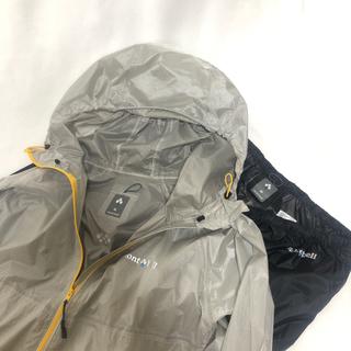 モンベル(mont bell)の【上下セット】バーサライトジャケット&パンツ Men's M(マウンテンパーカー)