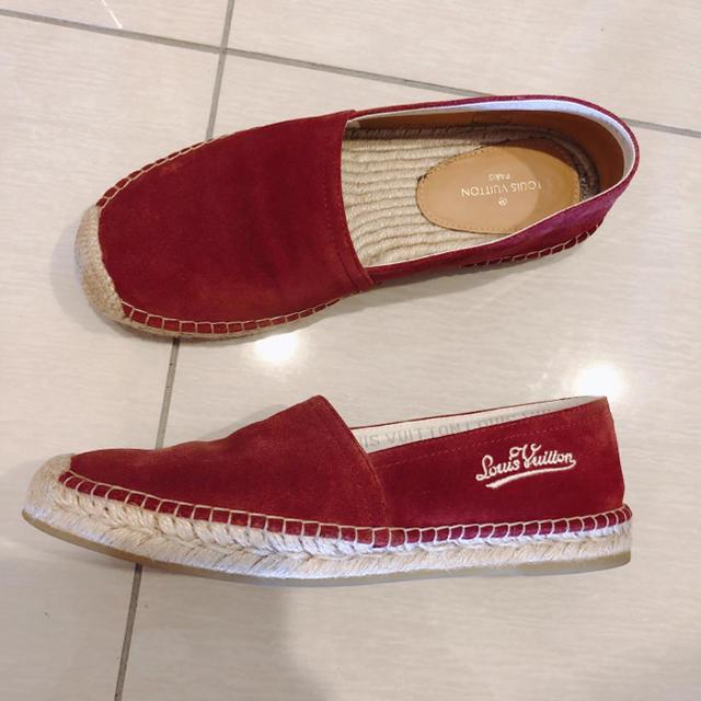 LOUIS VUITTON(ルイヴィトン)の新品同様♡完売vuittonエスパドリーユ赤 メンズの靴/シューズ(スリッポン/モカシン)の商品写真