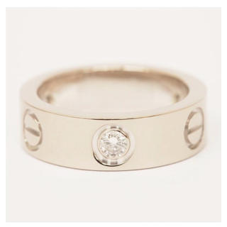 Cartier ラブリング 3Pダイヤ付き(リング(指輪))