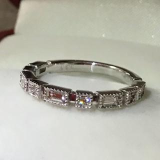K18WG♡バケットダイヤモンドリング 合計0.3ct(リング(指輪))