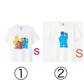 UNIQLO - ユニクロ カウズ セサミストリート KAWS Tシャツ