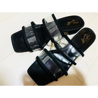 クリアサンダル ブラック サイズ38(サンダル)