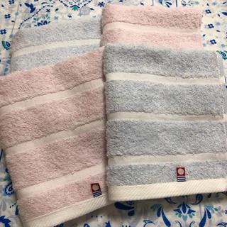 今治タオル - 新品未使用☆今治タオル フェイスタオル☆ピンク&ブルー☆ナチュラル 4枚