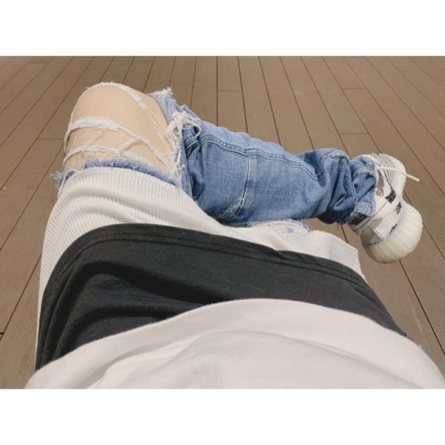 FEAR OF GOD(フィアオブゴッド)の【最終値下げ】クラッシュデニム mnml,ストリート好きに。 メンズのパンツ(デニム/ジーンズ)の商品写真