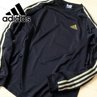 アディダス(adidas)の美品 Mサイズ アディダス climaLITE 長袖カットソー ブラック(Tシャツ/カットソー(七分/長袖))