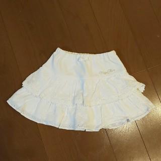 mezzo piano - メゾピアノ☆刺繍ティアードスカート100cm