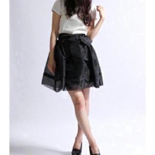 snidel - バックリボンオーガンジースカート