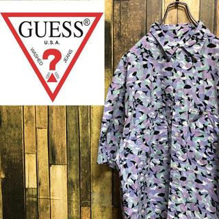 ゲス(GUESS)の【激レア】ゲスGUESS☆USA製ロゴタグ入り幾何学総柄シャツ 90s(シャツ)