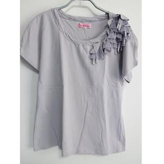 半袖カットソー (肩に飾り付き)(カットソー(半袖/袖なし))