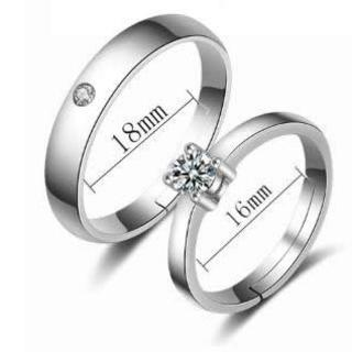 花と丸のキラキラが可愛いペアリング(リング(指輪))