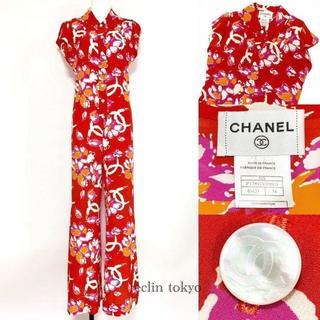 シャネル(CHANEL)のシャネル アロハ 花柄 ココマーク オールインワン E1239(その他)