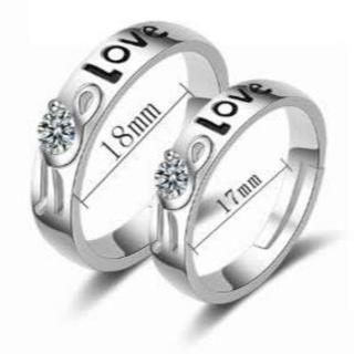 LOVE文字と花のキラキラが可愛いペアリング(リング(指輪))