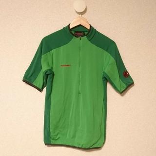 マムート(Mammut)のマムート ハーフジップシャツ(半袖)Asia XL グリーン メンズ(登山用品)