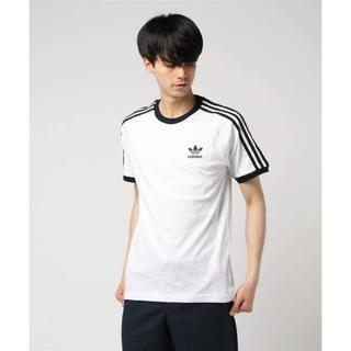 アディダス(adidas)のadidas 3ストライプ Tシャツ 白 Mサイズ CW1203(Tシャツ/カットソー(半袖/袖なし))