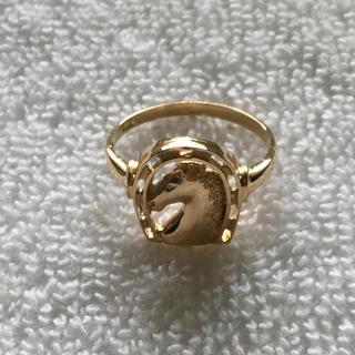 馬蹄 馬 18金 リング 18K 指輪 9号 10号 9.5号 指輪(リング(指輪))