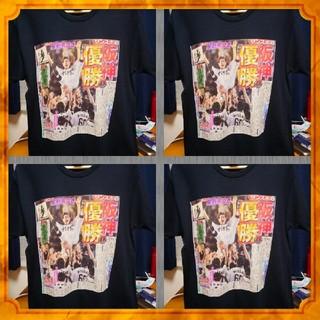 阪神タイガース優勝プリント黒Tシャツ(Tシャツ/カットソー(半袖/袖なし))