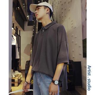 韓国ファッション メンズ 半袖 シャツ トップス カジュアル おしゃれトレンド(シャツ)