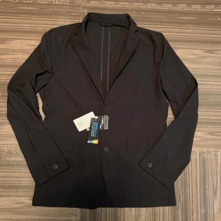 ナノユニバース(nano・universe)のナノユニバース クールマックスサッカージャケット ブラック L 新品(テーラードジャケット)