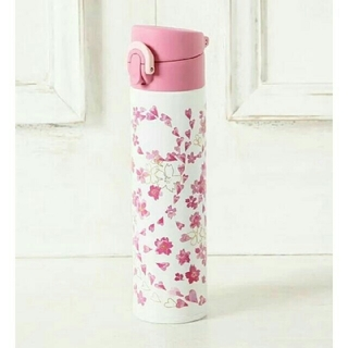 Afternoon Tea☆サーモス 桜柄 ワンタッチスリムボトル 400ml