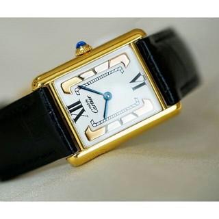 カルティエ(Cartier)の美品 カルティエ マスト タンク スリーカラーゴールド LM Cartier(腕時計)