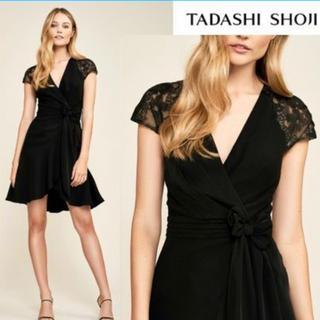 タダシショウジ(TADASHI SHOJI)のTADASHI SHOJI  タダシショージ  新品 黒ワンピース サイズ00(ひざ丈ワンピース)