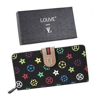 新品☆ 財布 長財布 カード12枚収納 多機能 高級PUレザー ブラック(財布)