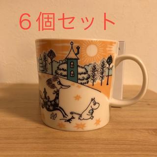 アラビア(ARABIA)のムーミン バレーパーク限定マグカップ 6個セット(グラス/カップ)