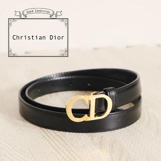 クリスチャンディオール(Christian Dior)の美品 Christian Dior CDロゴ レザー ベルト(ベルト)