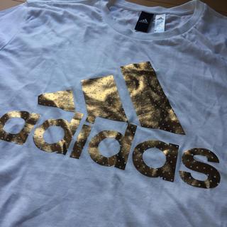 アディダス(adidas)の★タグ無し新品未使用★adidas ゴールド ロゴTシャツ XL(Tシャツ/カットソー(半袖/袖なし))