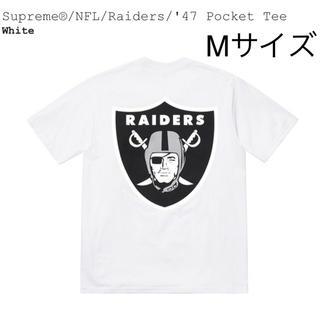 Supreme - 送料込 白M NFL/Raiders/'47 Pocket Tee