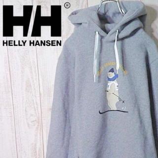 ヘリーハンセン(HELLY HANSEN)の【美品】ヘリーハンセン 裏起毛 スウェットパーカー クマ ベアー(パーカー)
