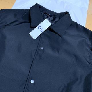 GU - GU ジーユー コーチジャケット ブラック ナイロン ジャケット BLACK