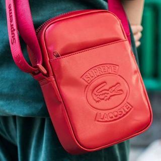 Supreme LACOSTE Shoulder Bag RED