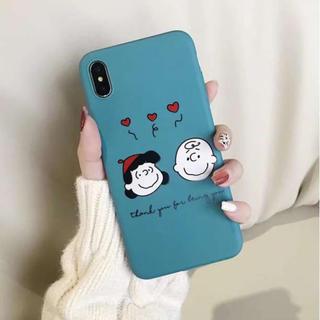 グリーン☆チャーリーブラウン ルーシー iphoneケース