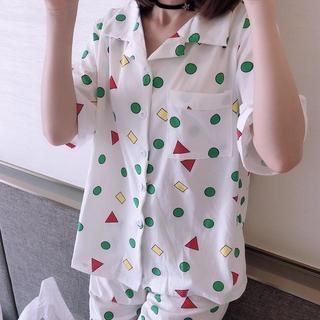 クレヨンしんちゃん 風 半袖 パジャマ ホワイト 白 ルームウェア