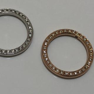ポンテヴェキオ(PonteVecchio)の美品ポンテヴェキオ ベルセグレートK18PG 側面ダイヤモンドエタニティリング(リング(指輪))