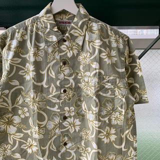 アロハシャツ 花柄 総柄シャツ 半袖 パターンシャツ used vintage(シャツ)