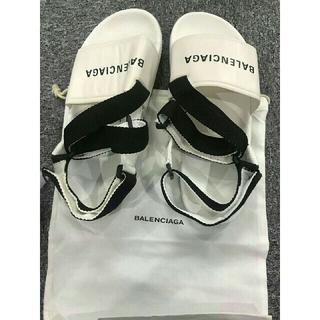 Balenciaga - 新品夏コーデBalenciagaバレンシアガ 白いサンダル メンズ (26.5)