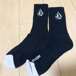 volcom - volcom ソックス ボルコム 黒 靴下