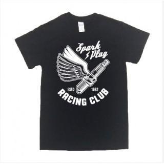 バイカー系 プラグ イラスト ロゴ 半袖 Tシャツ git9(Tシャツ/カットソー(半袖/袖なし))
