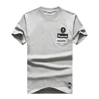 モンクレール(MONCLER)のモンクレール Tシャツ グレー Lサイズ(Tシャツ/カットソー(半袖/袖なし))