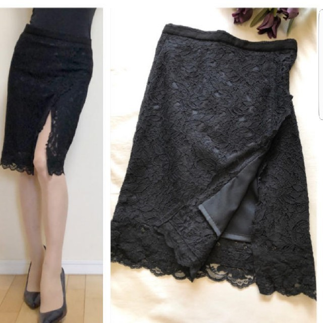 DURAS ambient(デュラスアンビエント)のデュラスアンビエント レースタイトスカート レディースのスカート(ひざ丈スカート)の商品写真