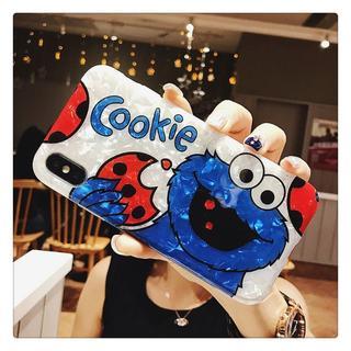 貝殻光沢 クッキーモンスター(Cookie Monster) iPhoneケース