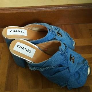CHANEL - CHANEL デニムサンダル