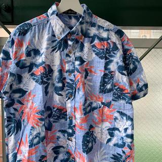 90s アロハシャツ 花柄 ボタンダウンシャツused vintage