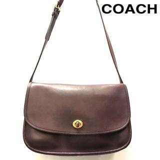 コーチ(COACH)のオールドコーチ バッグ ショルダーバッグ  肩掛けバッグ 本革 レザー パープル(ショルダーバッグ)