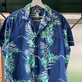 90s アロハシャツ オープンカラーシャツ 花柄 ボタニカル柄 vintage