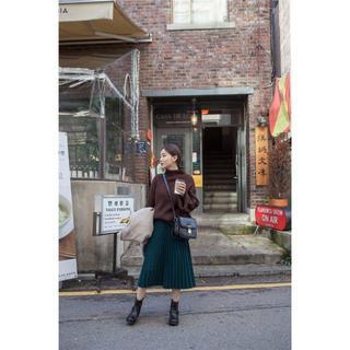❤新品❤送料無料!!プリーツ スカート ミモレ丈 フレア ひざ丈(ひざ丈スカート)