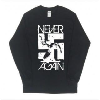 ロック系 卍 never again ロゴ 長袖 ロングTシャツ git47(Tシャツ/カットソー(七分/長袖))